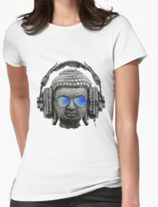 Cool Headphones Hip Hop Groove Buddha Banksy  Womens Fitted T-Shirt