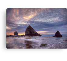 Sunset at Cannon Beach, OR Canvas Print
