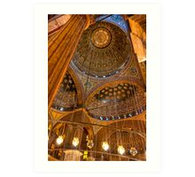 High Domes - Landmark Cairo Mosque Interior Art Print