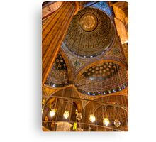 High Domes - Landmark Cairo Mosque Interior Canvas Print
