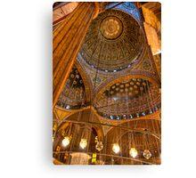 High Domes - Landmark Cairo Mosque Interior Canvas Print