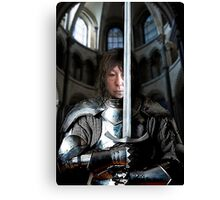 Here Begynnith The Fyrst Queste Canvas Print