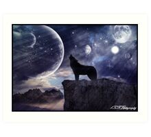 Howling Planets Art Print