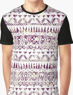 Trendy Rustic Tribal Aztec Pattern Graphic T-Shirt