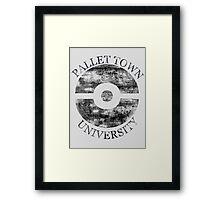 Pallet Town University Framed Print