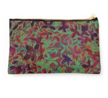 Flora Celeste Purple Agata Leaves Studio Pouch