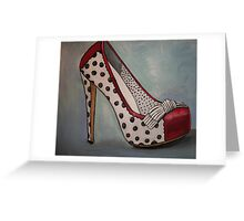 Polka Dot Heel Greeting Card