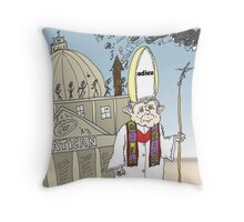Pape Benoit XVI quitte le Vatican caricature Throw Pillow