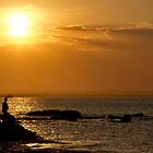Boy Fishing - La Perouse - Sydney - Australia by Bryan Freeman