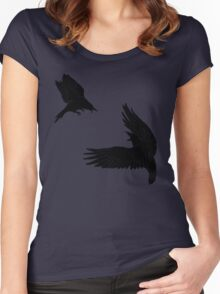 Battle of the Birds Women's Fitted Scoop T-Shirt