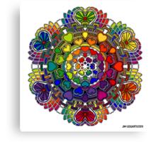 Rainbow Valentine Mandala Canvas Print