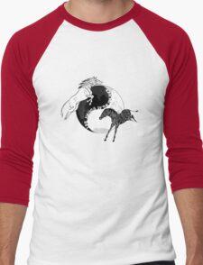 Yin Yan Horses Men's Baseball ¾ T-Shirt