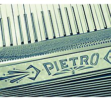 Retro Piano Accordian Photographic Print