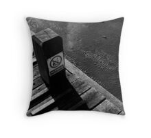 Piano in the sea. Throw Pillow