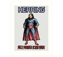 Richard Herring Action Figure Art Print