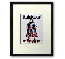 Richard Herring Action Figure Framed Print