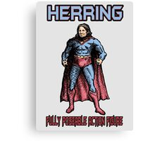 Richard Herring Action Figure Canvas Print