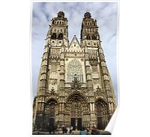 Gothic Finery - Tours Cathedral Poster