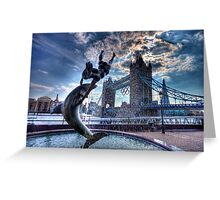 Fountain and Bridge Greeting Card