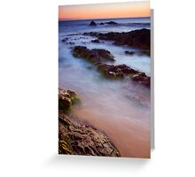 Rock, Ocean and Time Greeting Card