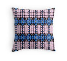 Strong woven pink and blue squares. Throw Pillow
