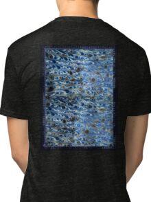 marbled paper - ink blue sea Tri-blend T-Shirt