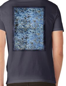 marbled paper - ink blue sea Mens V-Neck T-Shirt