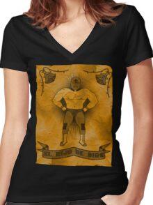 El Hijo De Dios Women's Fitted V-Neck T-Shirt