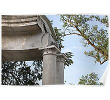 ruins colonnade Poster