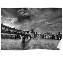St Pauls Black and White Poster