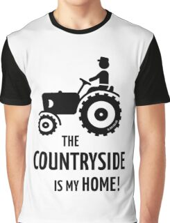 The Countryside Is My Home! (Farmer With Tractor) Graphic T-Shirt