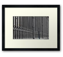 old cast iron fence  Framed Print