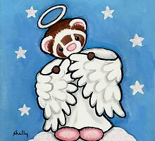 Angel in Pink Fuzzy Slippers by Shelly  Mundel