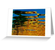 Colorful water reflection Greeting Card