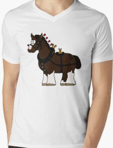 Shire in Harness Mens V-Neck T-Shirt