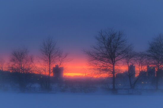 Soft glow of winter's fire by Owed to Nature