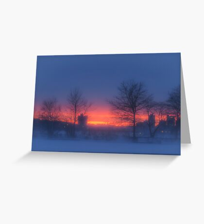 Soft glow of winter's fire Greeting Card