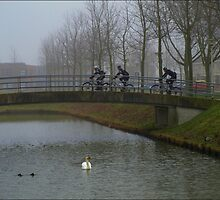 Cyclists.. by Janone