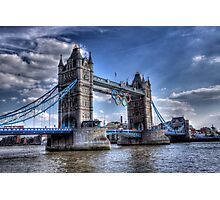 Tower Bridge and rings Photographic Print