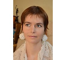 The Girl With The Crocheted Earrings Photographic Print