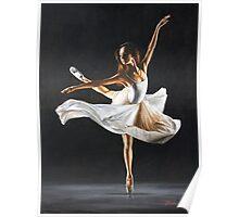 """Fine art ballerina painting """"Attitude"""" Poster"""