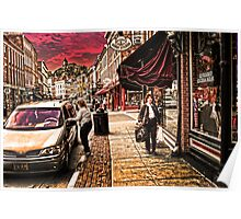 Galena Illinois Happy Shopper Poster