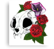 Kitty Skull Canvas Print