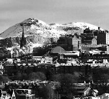 Edinburgh winter scene by bigwhisper76