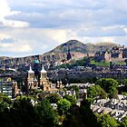 Edinburgh Castle and Arthurs Seat by bigwhisper76