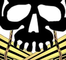 Skull with Tuba Crossbones Sticker