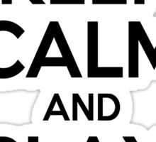 Keep Calm and Play On Tuba Sticker
