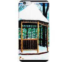 Winter Gazebo iPhone Case/Skin