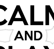 Keep Calm and Play On Horn Sticker