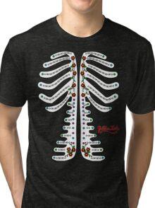 Sugar Skeleton (Front) Tri-blend T-Shirt